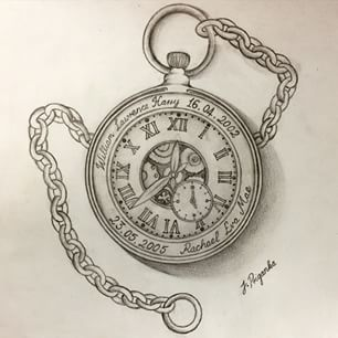 Pocket Watch Chain Drawing at GetDrawings.com | Free for ...