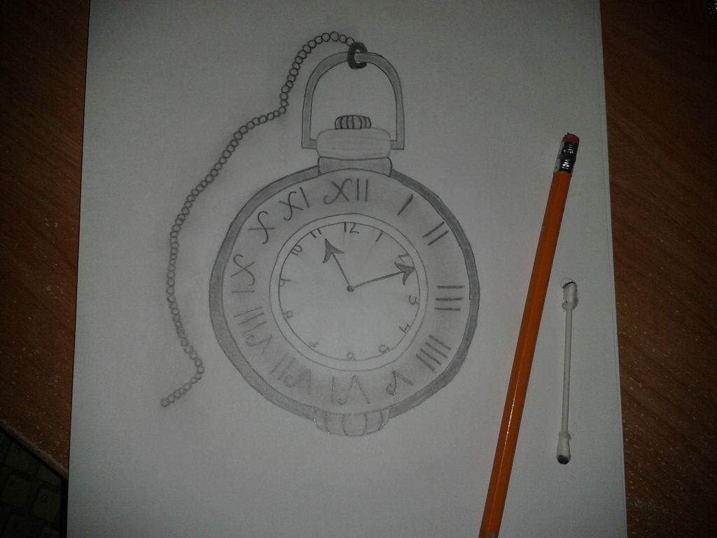 1024x768 How To Draw A Pocket Watch 3 Steps (With Pictures)
