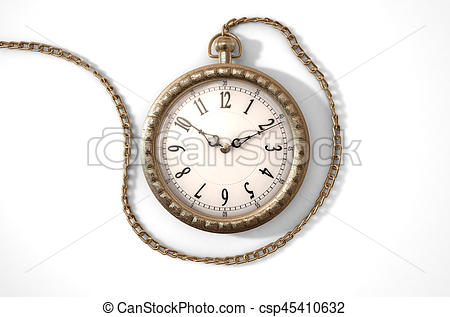 450x317 Pocket Watch On Chain. A Closeup Of An Intricate Gold Drawings