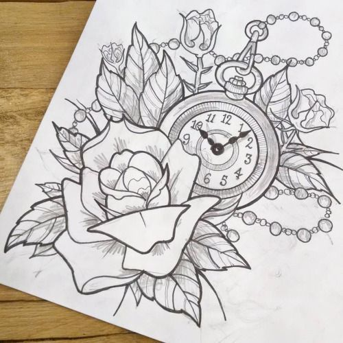 500x500 Black And Grey Pocket Watch Drawing