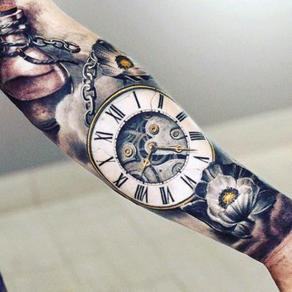 600x600 Stunning Antique Pocket Watch Tattoos For Your Next Ink