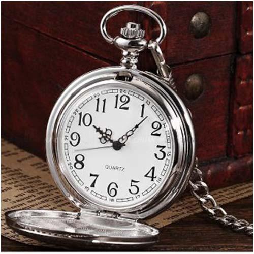 500x500 Buy Quartz Pocket Watch, Analog, Silver Case