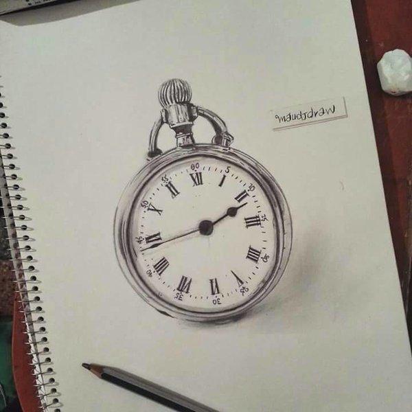 600x600 Draw Of Pocket Watch Realism Maudjdraw By Maudjdraw