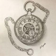 236x236 Pocket Watch Tattoo