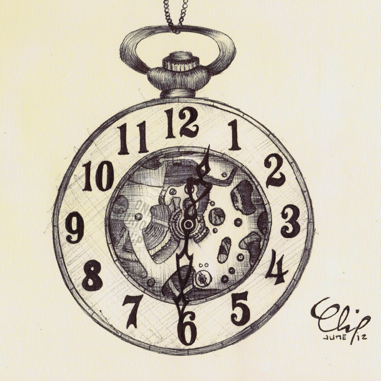 776x776 Ballpoint Pen, Half Hunter Pocket Watch Ii Byecuriouschip