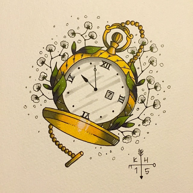 640x640 My Tattoo Work Little Pocket Watch For @jnshenton
