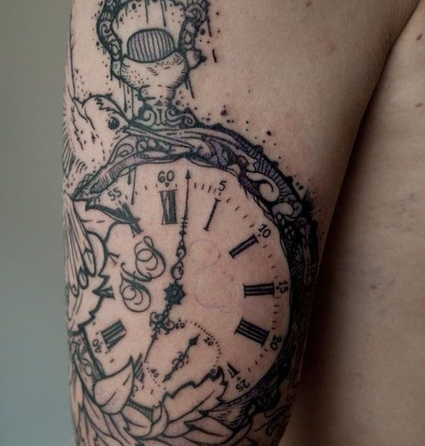 600x630 Stunning Antique Pocket Watch Tattoos For Your Next Ink