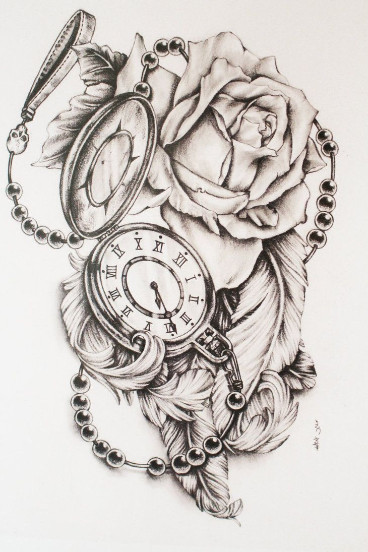 730x1095 Feathers And Pocket Watch By Di Polar