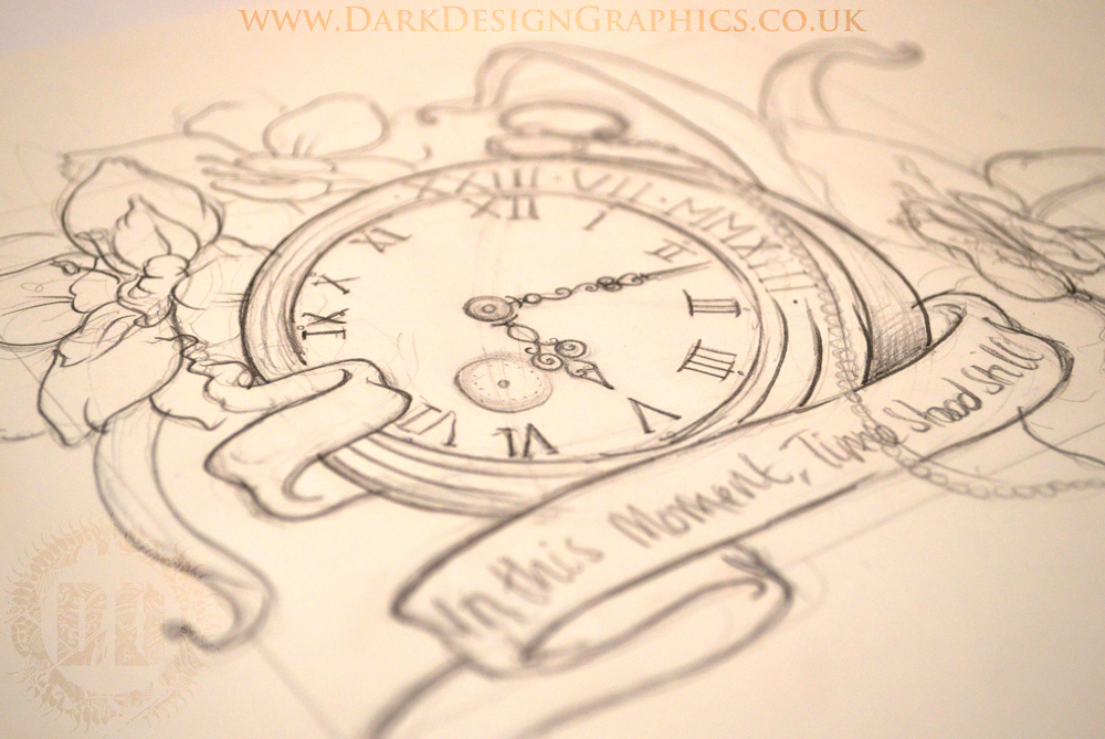 1000x669 Pocket Watch Tattoo Design