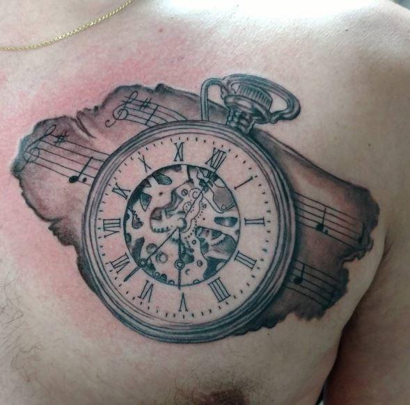 589x582 Pocket Watch Tattoos Tattoo Ideas Pocket Watch