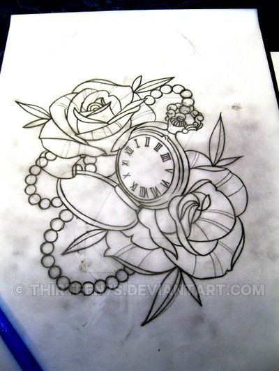 400x531 View Source Image Drawings Pocket Watch Tattoo