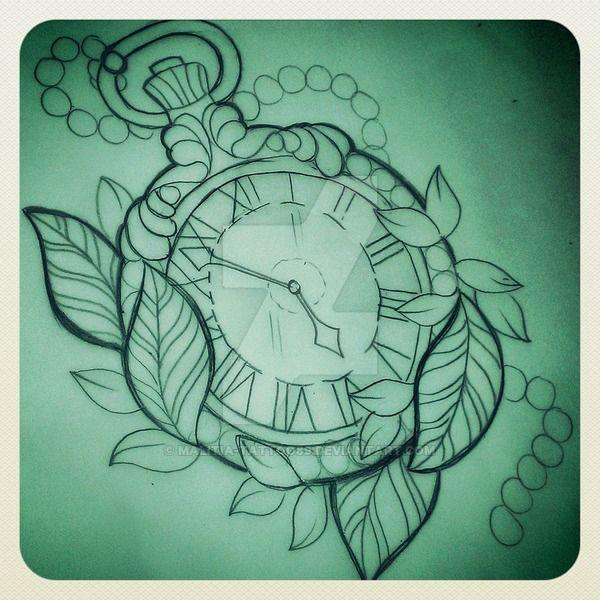 600x600 Pocket Watch Tattoo Living Canvas Watch Tattoos