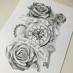 236x236 Pocketwatch And Roses By Mmpninja On Things I'M Drawn