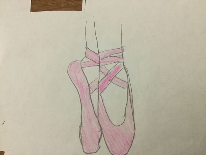 670x503 2 Easy Ways To Draw Ballet Slippers (With Pictures)