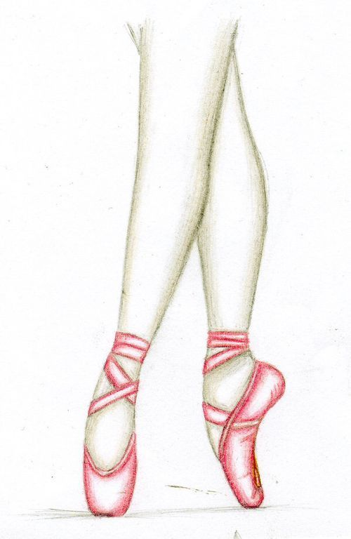 500x768 How To Draw A Ballerina Shoe