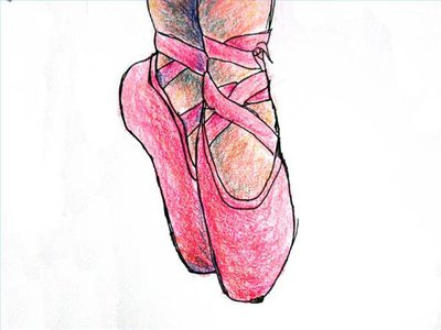 400x300 How To Draw Ballet Shoes (With Pictures) Ehow