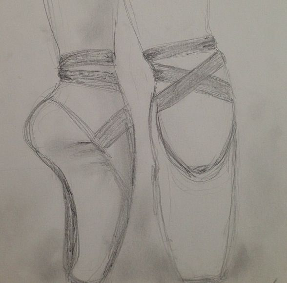 588x579 Pointe Shoe Sketch Sketches Best Pointe Shoes