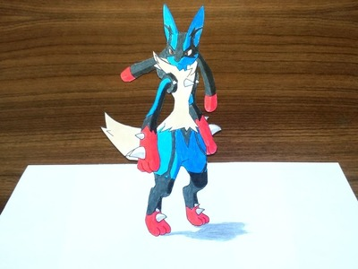 400x300 Draw, Drawing Mega Lucario Pokemon 3d Speed Drawing, How To Draw
