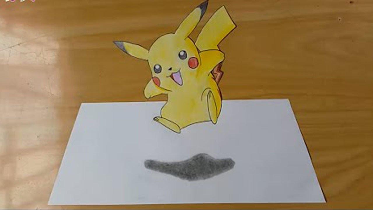 1280x720 How To Draw Pokemon 3d (Pikachu )