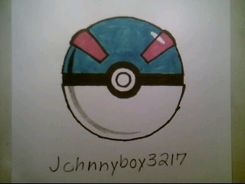 480x360 How To Draw Pokemon Great Ball Pokeball Go 3d Easy Step By