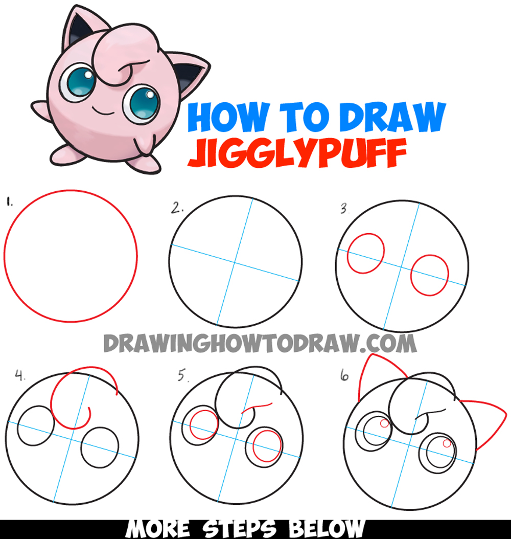 1000x1054 How To Draw Jigglypuff From Pokemon
