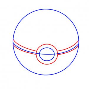 302x302 How To Draw Pokeball