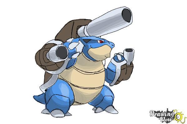 600x400 How To Draw Mega Blastoise From Pokemon X Amp Y