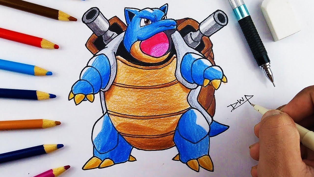 1280x720 How To Draw Blastoise Pokemon Step By Step Easy For Kids