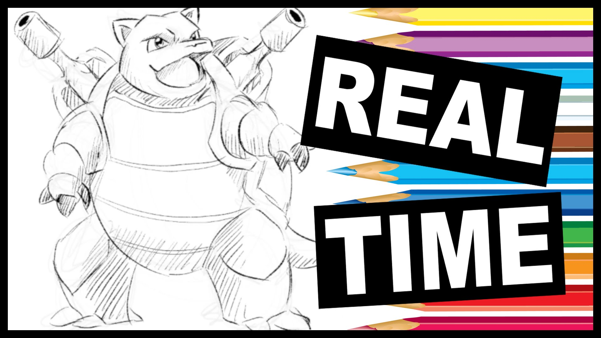 1920x1080 Kids Art Lesson How To Draw Pokemon Blastoise
