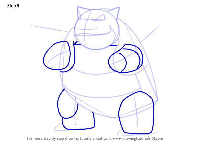 844x598 Learn How To Draw Blastoise From Pokemon Go (Pokemon Go) Step By