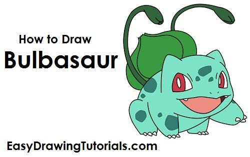 500x315 How To Draw Bulbasaur (Pokemon)