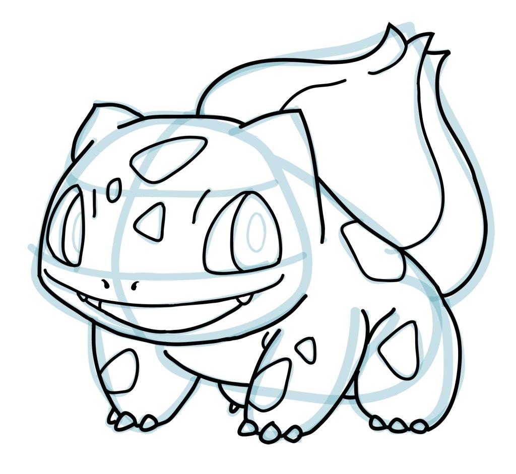 1024x941 Pokemon Easy To Draw How To Draw Bulbasaur Pokemon How To Draw