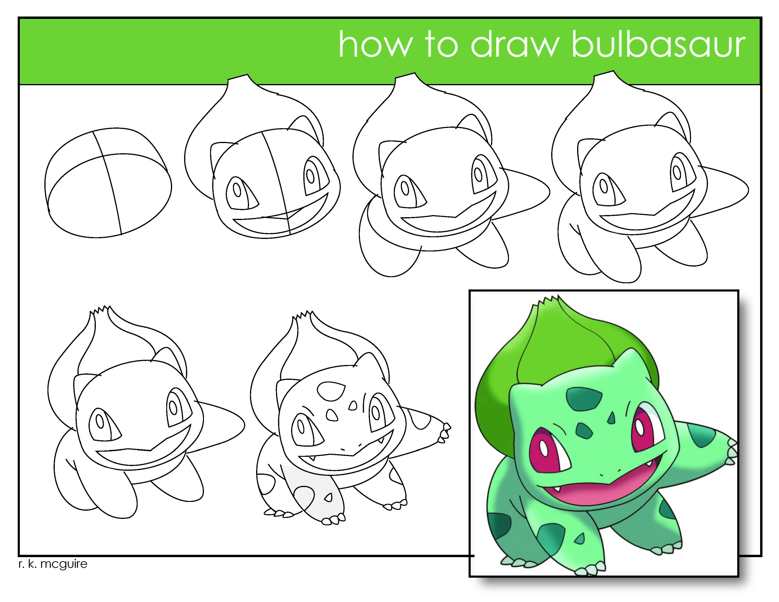 3300x2550 Speed Drawing Bulbasaur Pokemon R K Mcguire