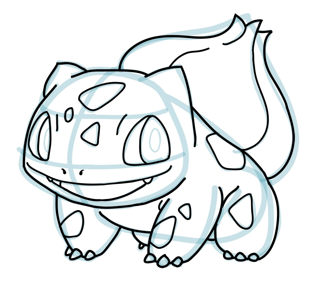 1024x941 How To Draw Pokemon Characters How To Draw Bulbasaur Pokemon How