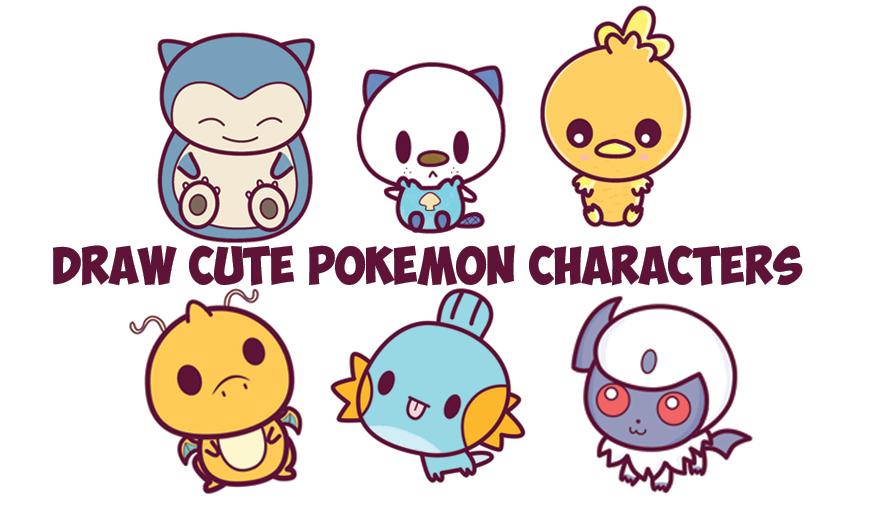 869x509 How To Draw Cute Baby Chibi Pokemons