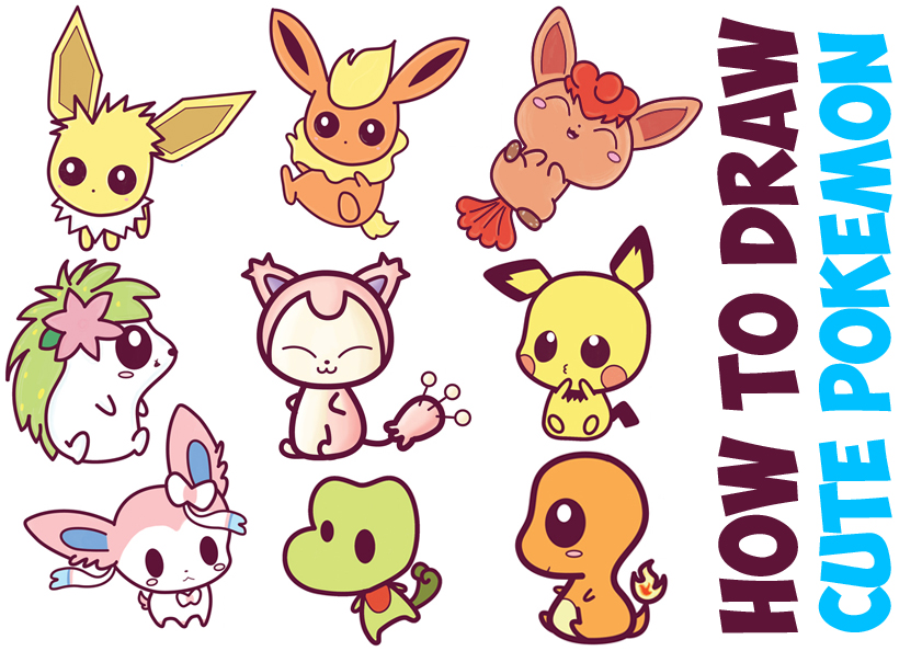 841x594 How To Draw Cute Pokemon Characters (Kawaii Chibi Style) In Easy