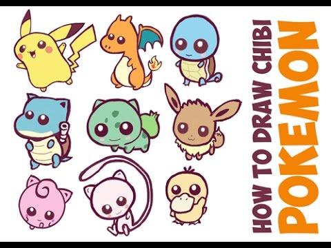 480x360 How To Draw Cute Pokemon Characters Easy Cute Chibi Kawaii