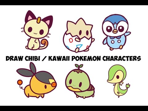 480x360 How To Draw Pokemon Characters Step By Step Easy For Kids (Cute