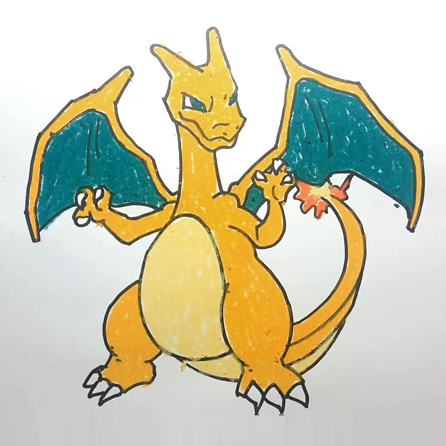 893x894 How To Draw Charizard Pokemon Step By Step By Allforkidschannel