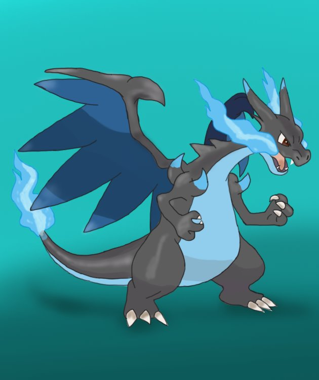 630x750 Learn How To Draw Mega Charizard X From Pokemon (Pokemon) Step By