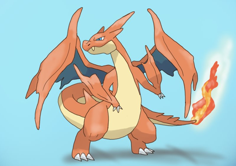 800x564 Learn How To Draw Mega Charizard Y From Pokemon (Pokemon) Step By