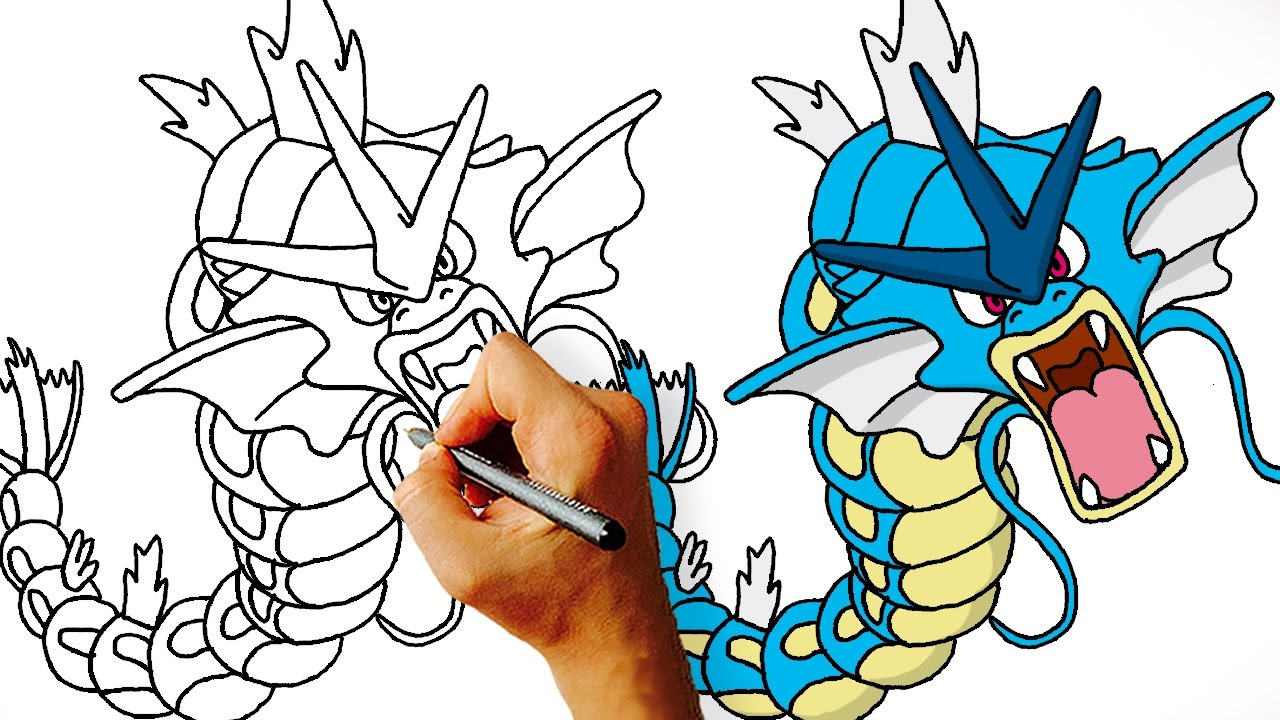 1280x720 How To Draw Gyrados Step By Step
