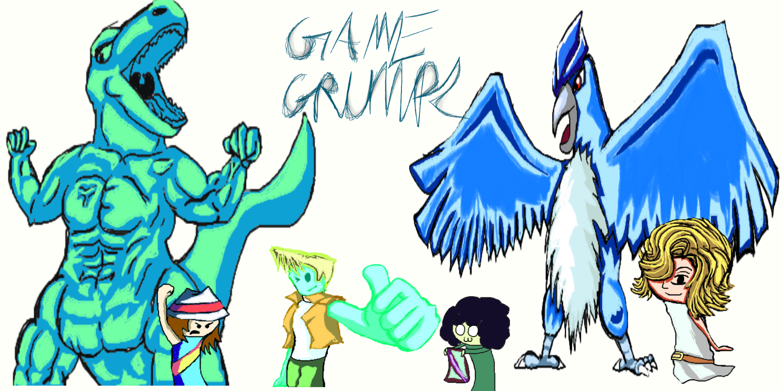 1605x803 Pokemon Firered Great Or Ultra~game Grumps By 357sneak