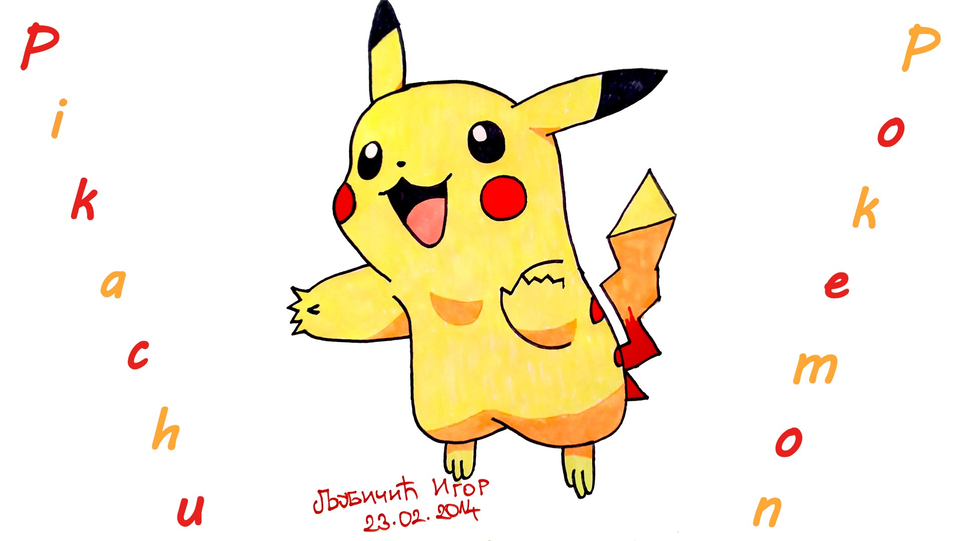1920x1080 Homely Idea How To Color Pokemon Draw POKEMON GO PIKACHU EASY For