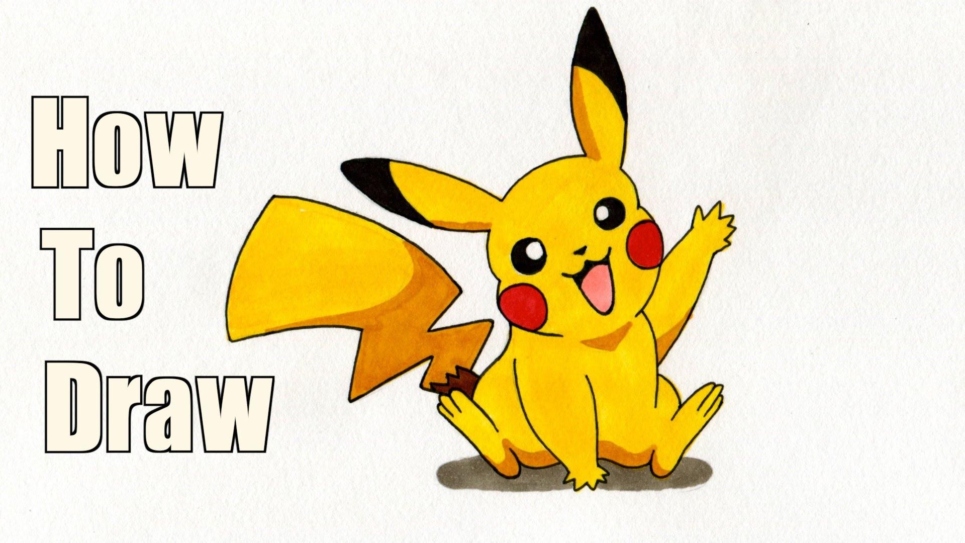 1920x1080 How To Draw Pikachu! (Pokemon Drawing Tutorial)