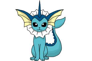 300x200 How To Draw Vaporeon From Pokemon