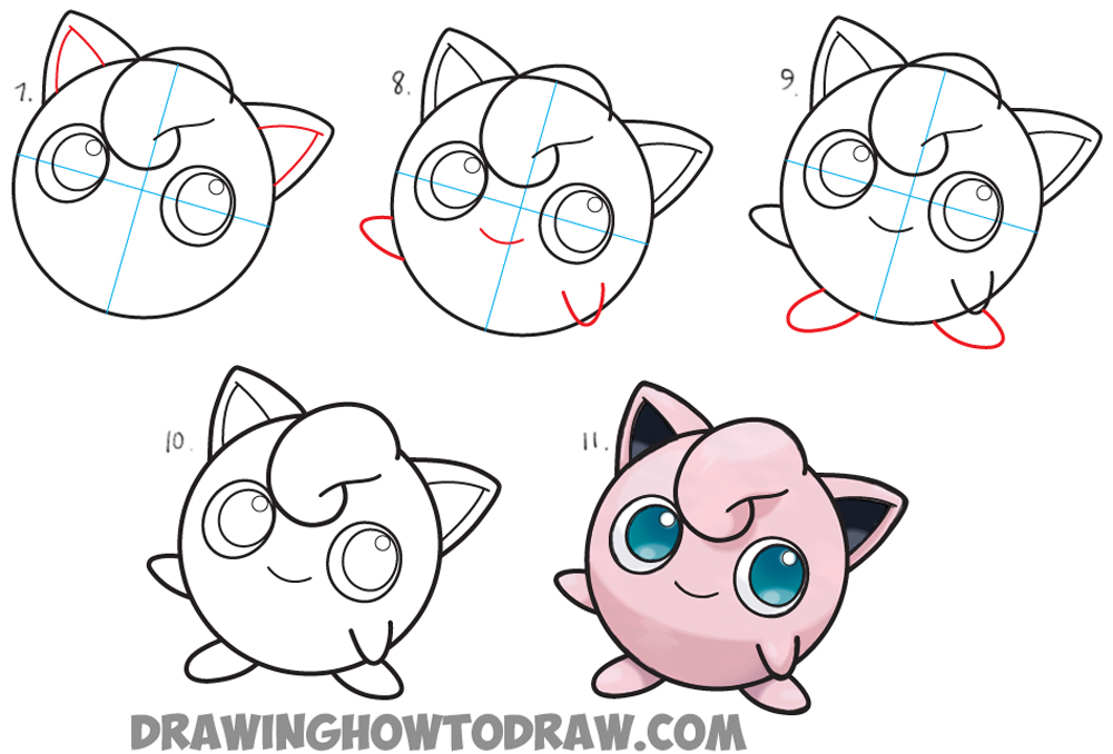 1000x678 How To Draw Jigglypuff From Pokemon