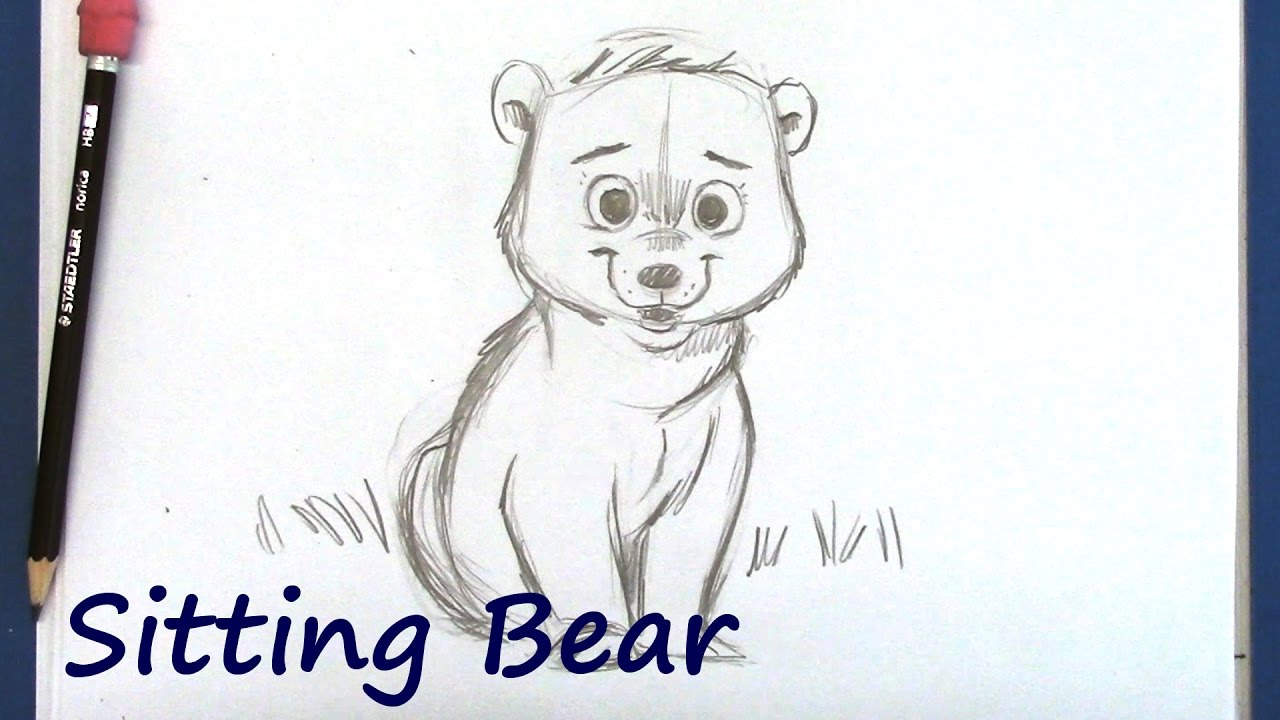 1280x720 Cartoon Drawings Of Bears 5. How To Draw A Cartoon Polar Bear