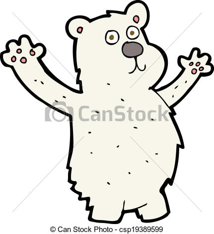 431x470 Cartoon Funny Polar Bear Eps Vectors