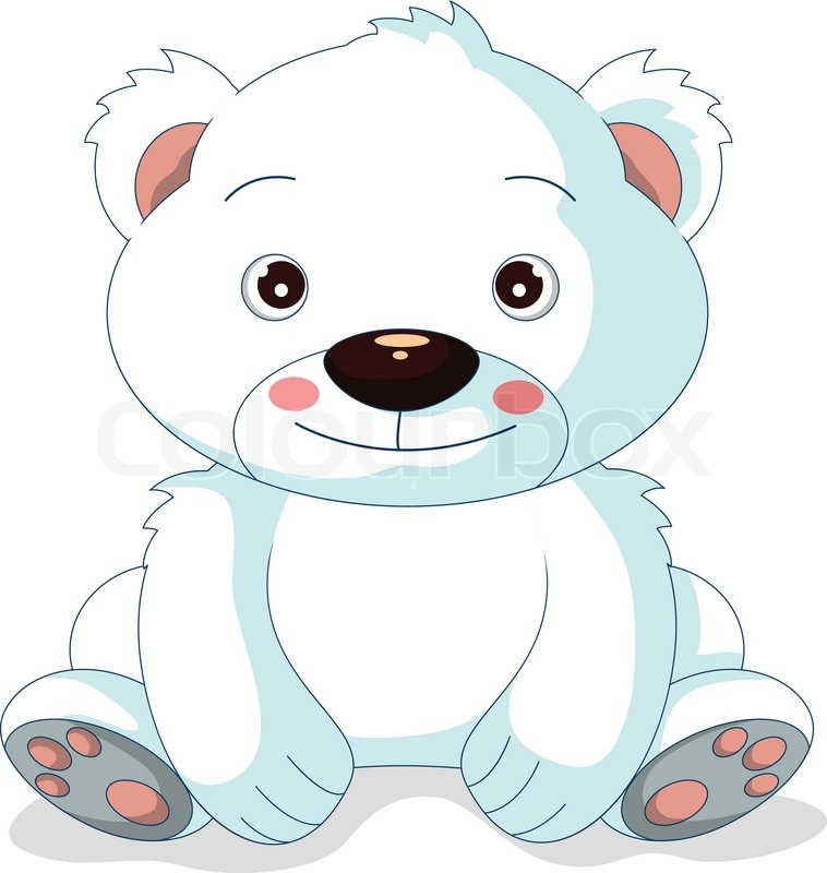 758x800 Cute Polar Bear Cartoon Stock Vector Colourbox